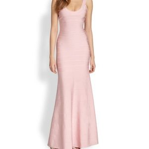 Herve Leger TAGS ON Pink Gown